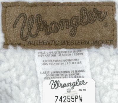 Куртка джинсовая wrangler 74255pw sherpa lined denim